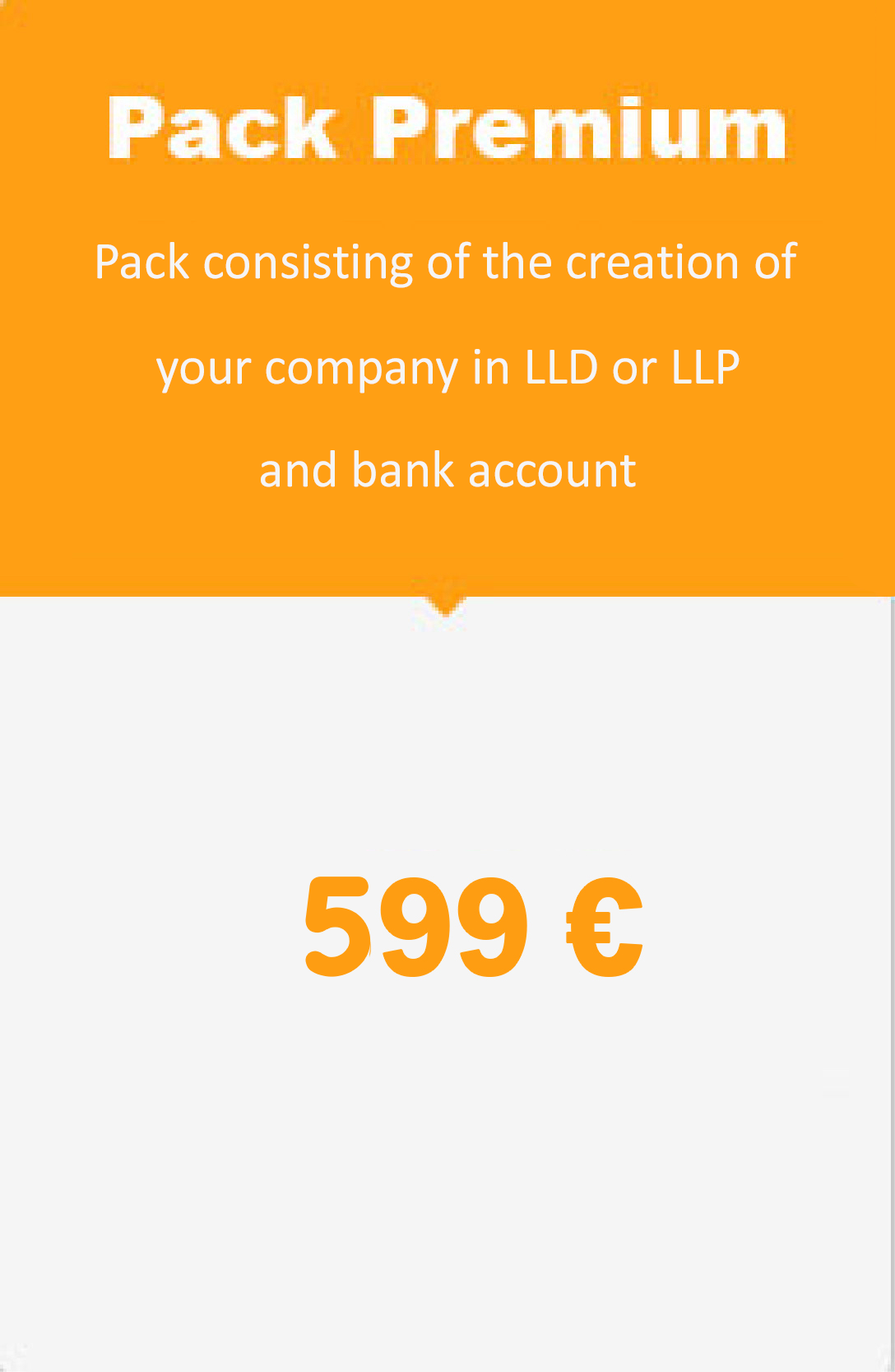 Pack consisting of the creation of your company in LLD or LLP and bank account