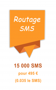 Routage mailing SMS 495€