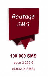Routage mailing SMS 3200€