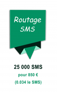 Routage mailing SMS 850€