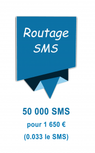 Routage mailing SMS 1650€